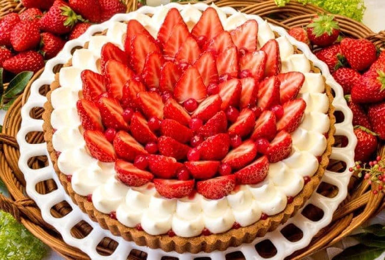 キル フェ ボン「イチゴとホワイトチョコクリームのタルト」