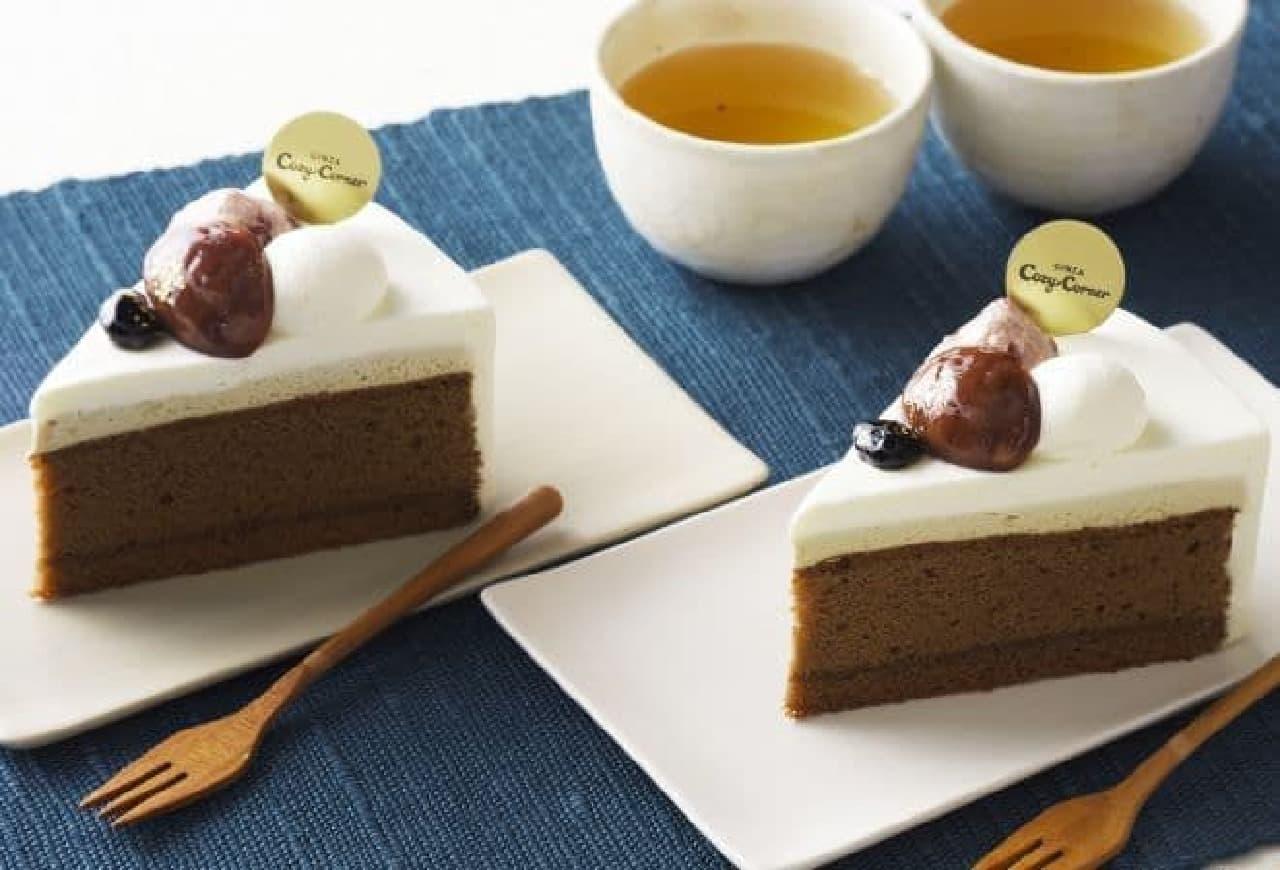 銀座コージーコーナー「香ばしほうじ茶のケーキ」
