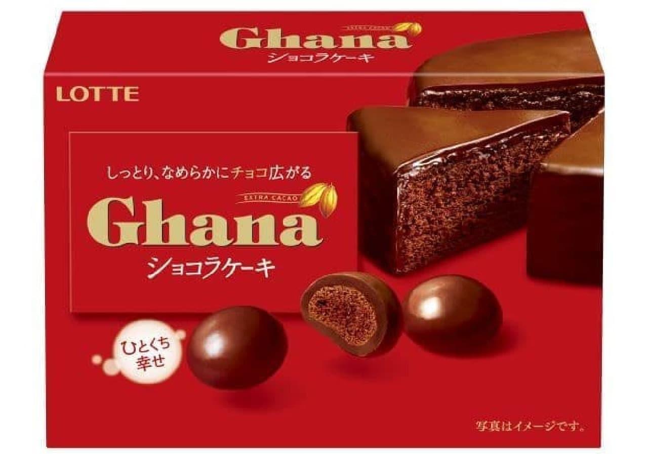 ガーナしっとりショコラケーキはひと口サイズのショコラケーキがガーナミルクで包まれたお菓子