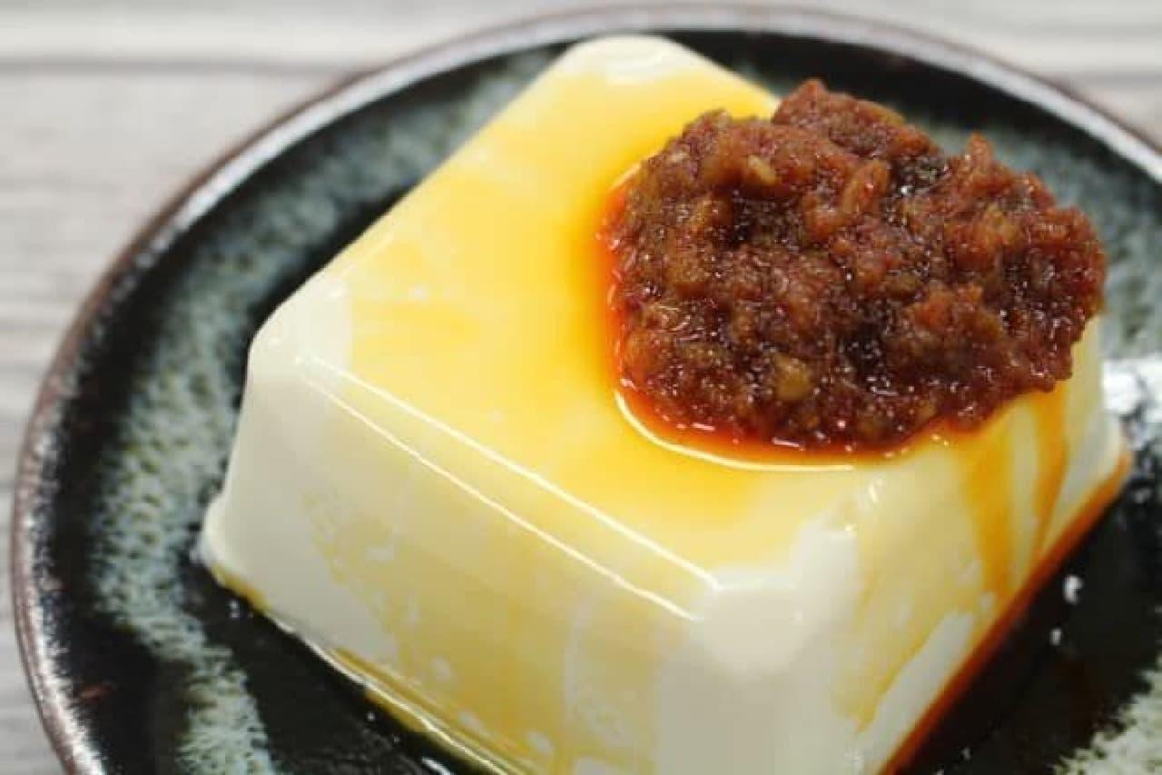 カルディ「食べる麻辣醤」をかけた豆腐