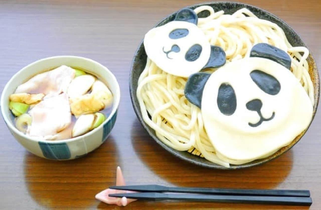 武蔵野うどん 藤原「パンダうどん」と「猫うどん」