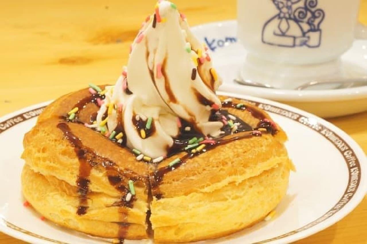 コメダ珈琲店「シロノワール 完熟チョコバナ」