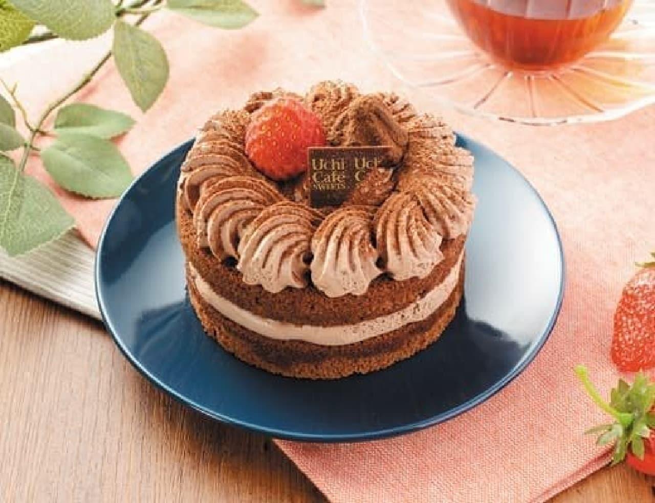 ローソン「苺のミニホールチョコケーキ」