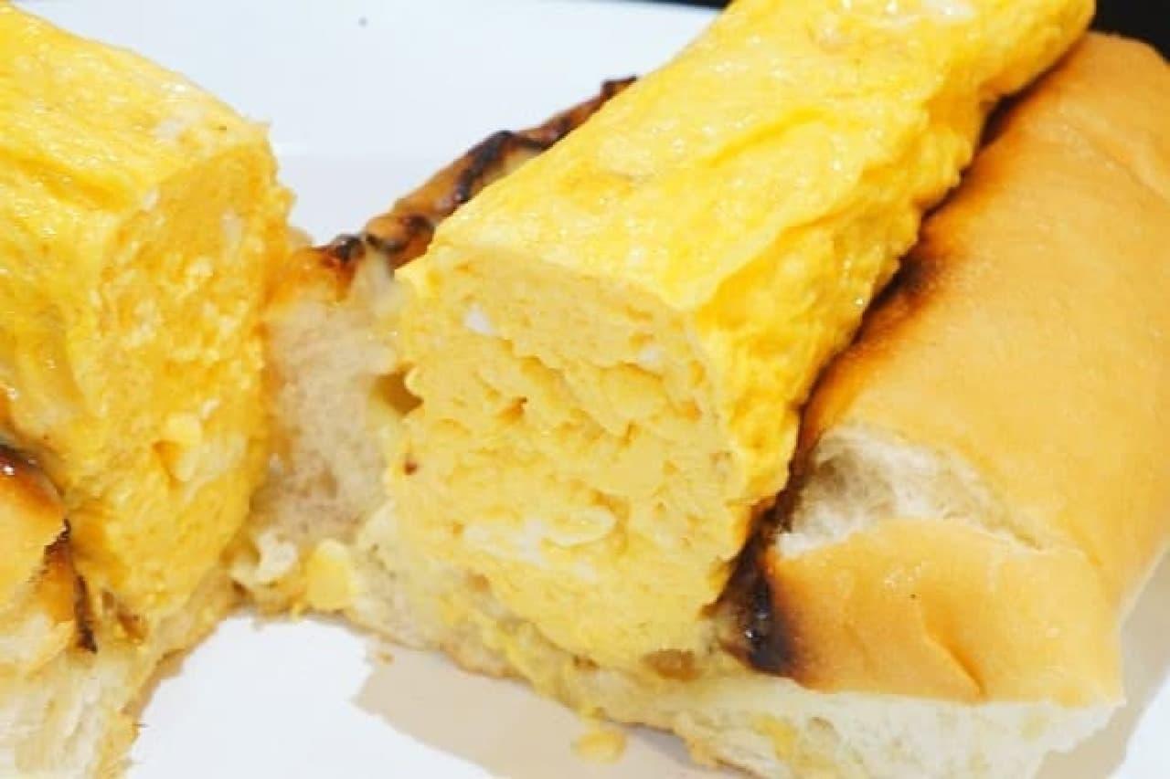 デリファシャスの「出汁巻き卵ドッグ」