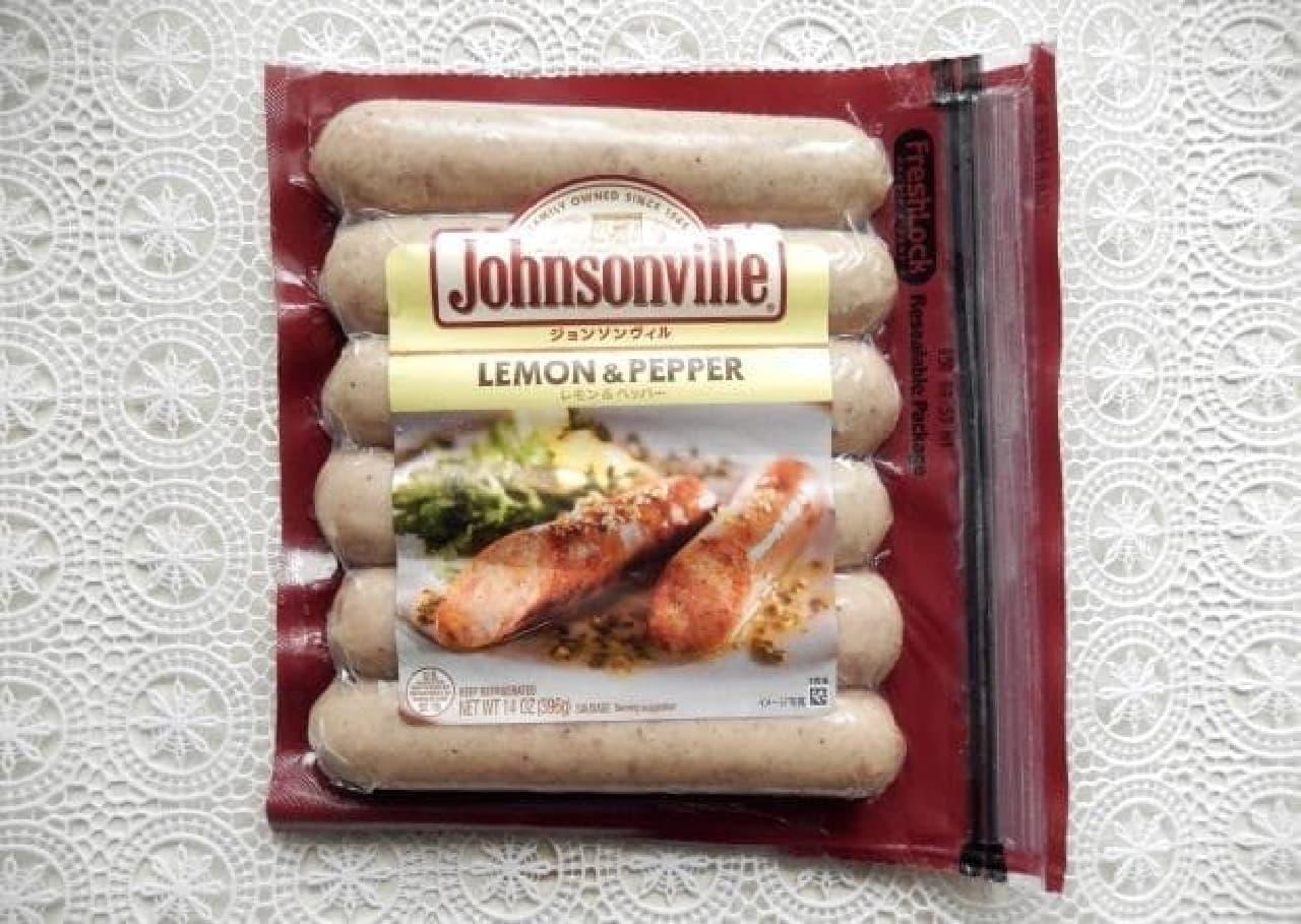 ジョンソンヴィル「無塩せきフランクフルトソーセージ」レモン&ペッパー味