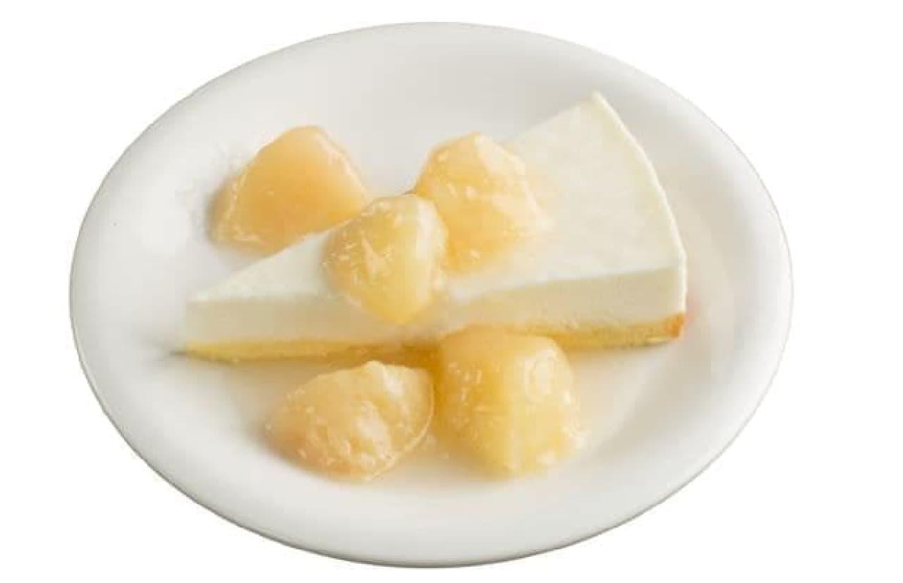 スシロー「ごろっと桃のチーズケーキ」