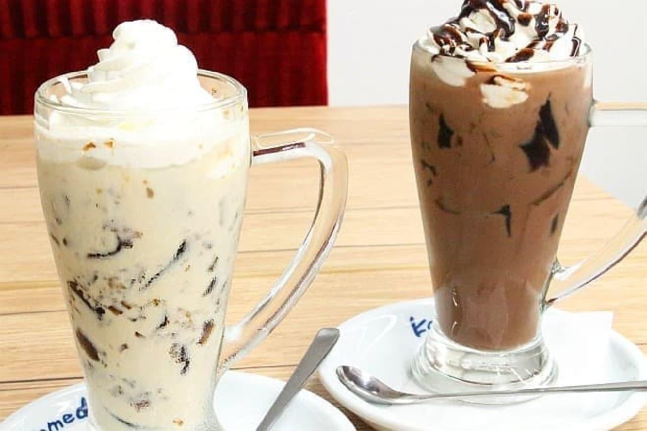 コメダ珈琲店「ジェリコ ミルクコーヒー」と「ジェリコ カフェモカ」