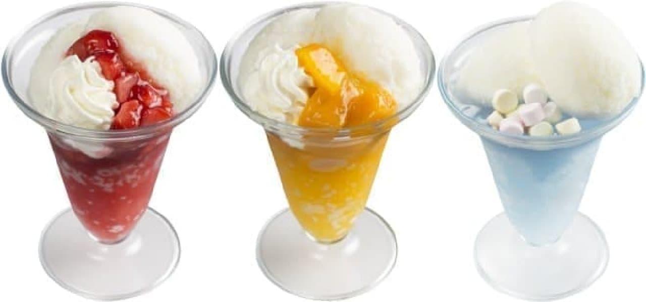 スシロー「練乳かき氷パフェ」