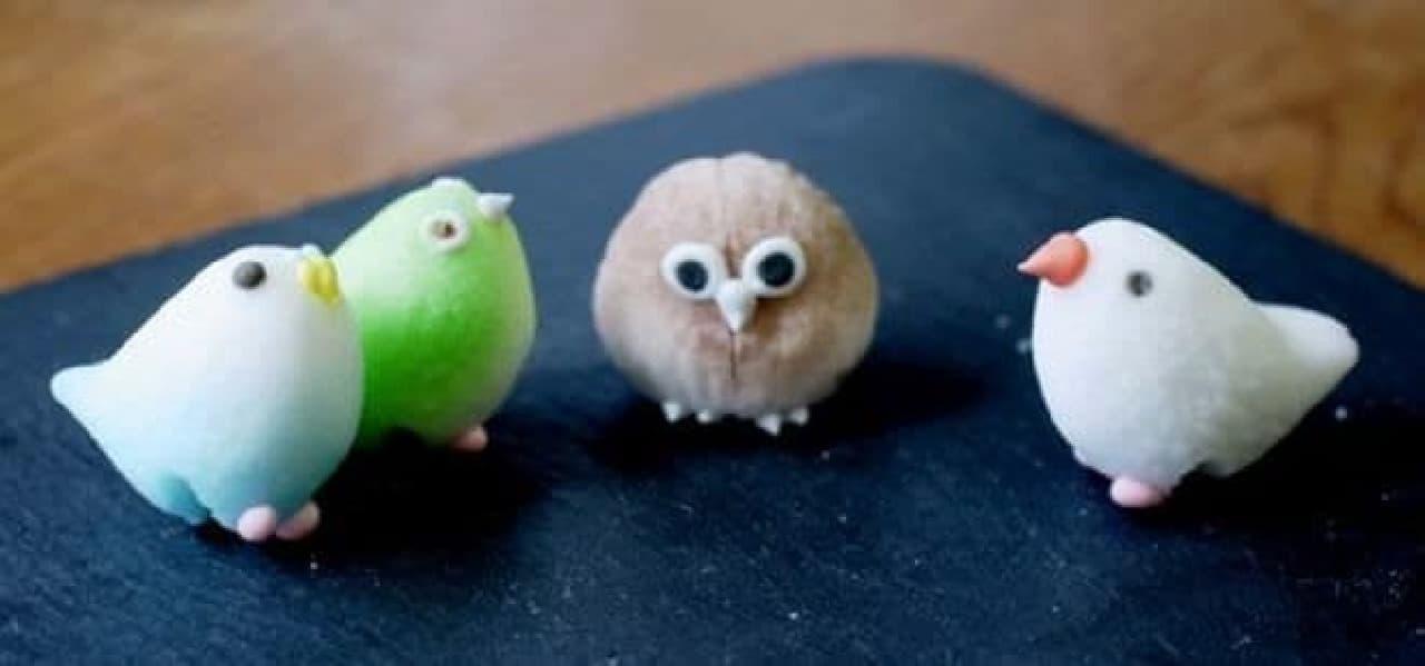 動物シュガー「【鳥がフチに止まります】コトリシュガー」