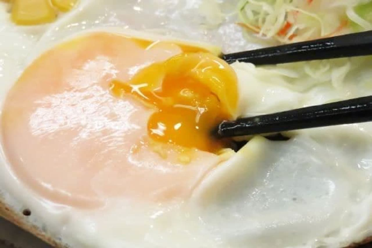 吉野家で一番安い朝食メニューは「ハムエッグ定食」
