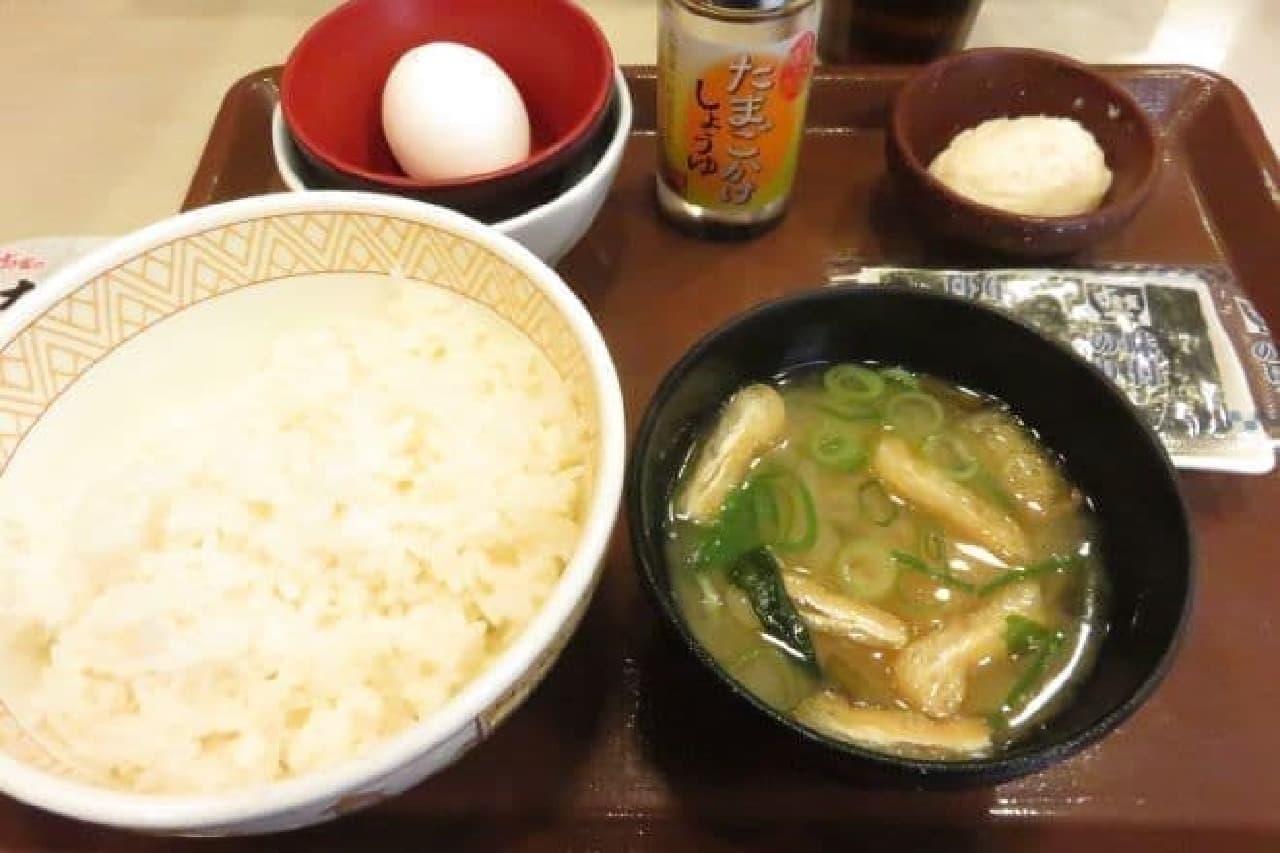 すき家「たまかけ朝食」