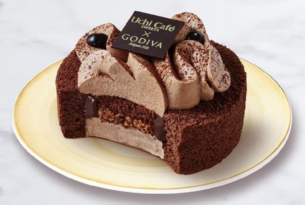 ローソン×ゴディバ「ショコラロールケーキ」