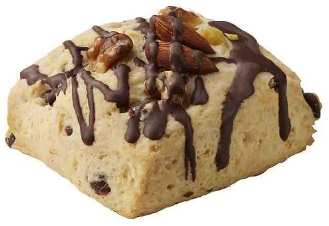 マックカフェ「チョコ&ナッツスコーン」