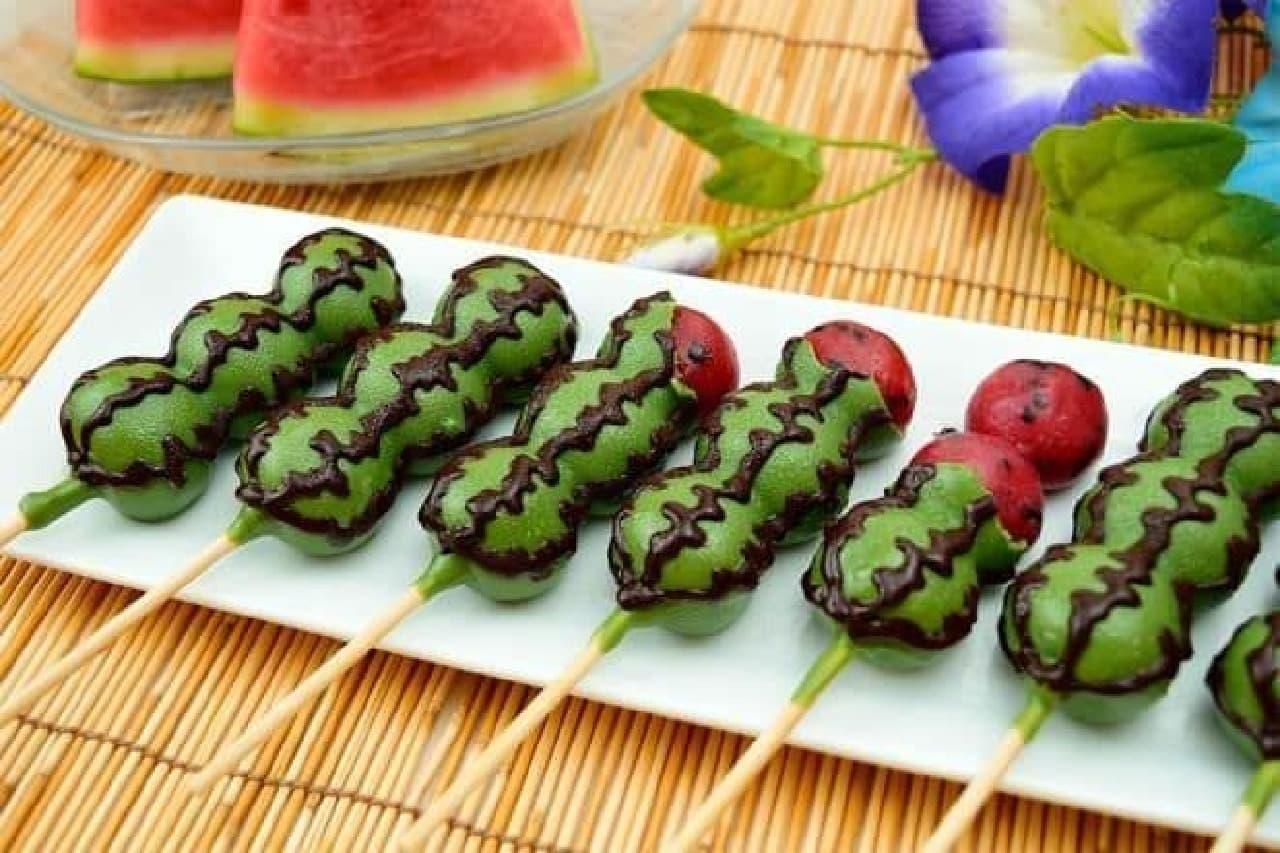 丸八製菓「チョコマントすいか味」
