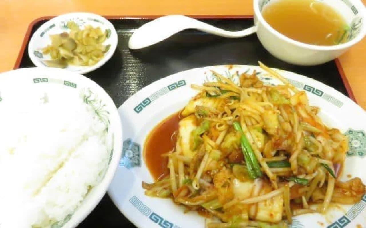 日高屋「バクダン炒め定食」