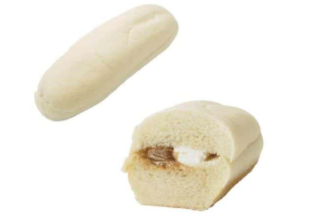 ローソンストア100「VL白いコッペパン(キャラメル&ホイップ)」