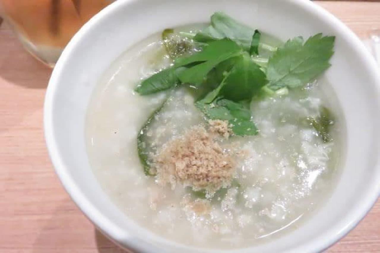 スープストック「瀬戸内産真鯛の鯛粥」