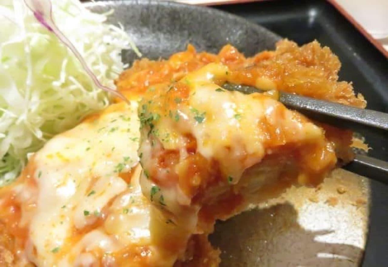 松のや「チーズトマトささみかつ定食」