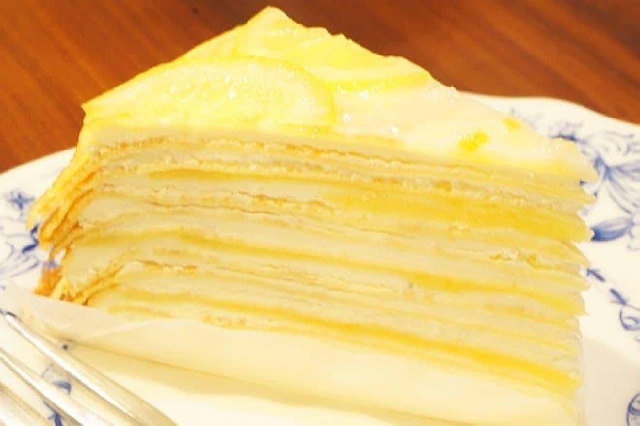 ドトールコーヒー「レモンのミルクレープ」