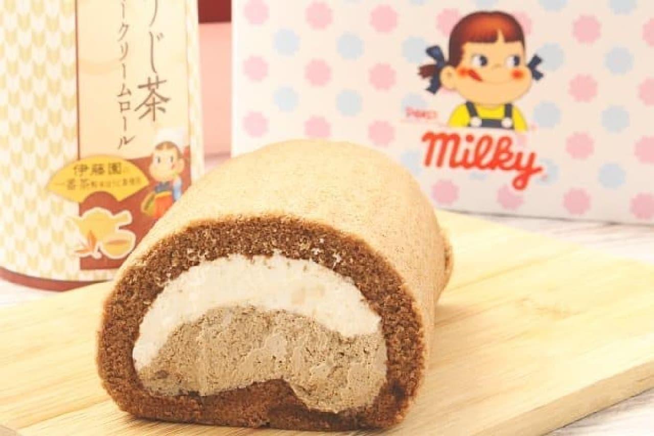 不二家洋菓子店「ほうじ茶ミルキークリームロール」