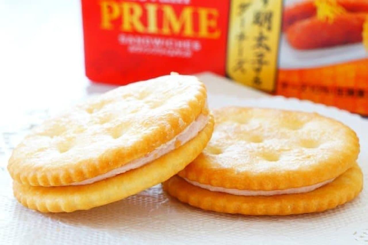 ヤマザキビスケット「ルヴァンプライムサンド ゆず明太子&チェダーチーズ」