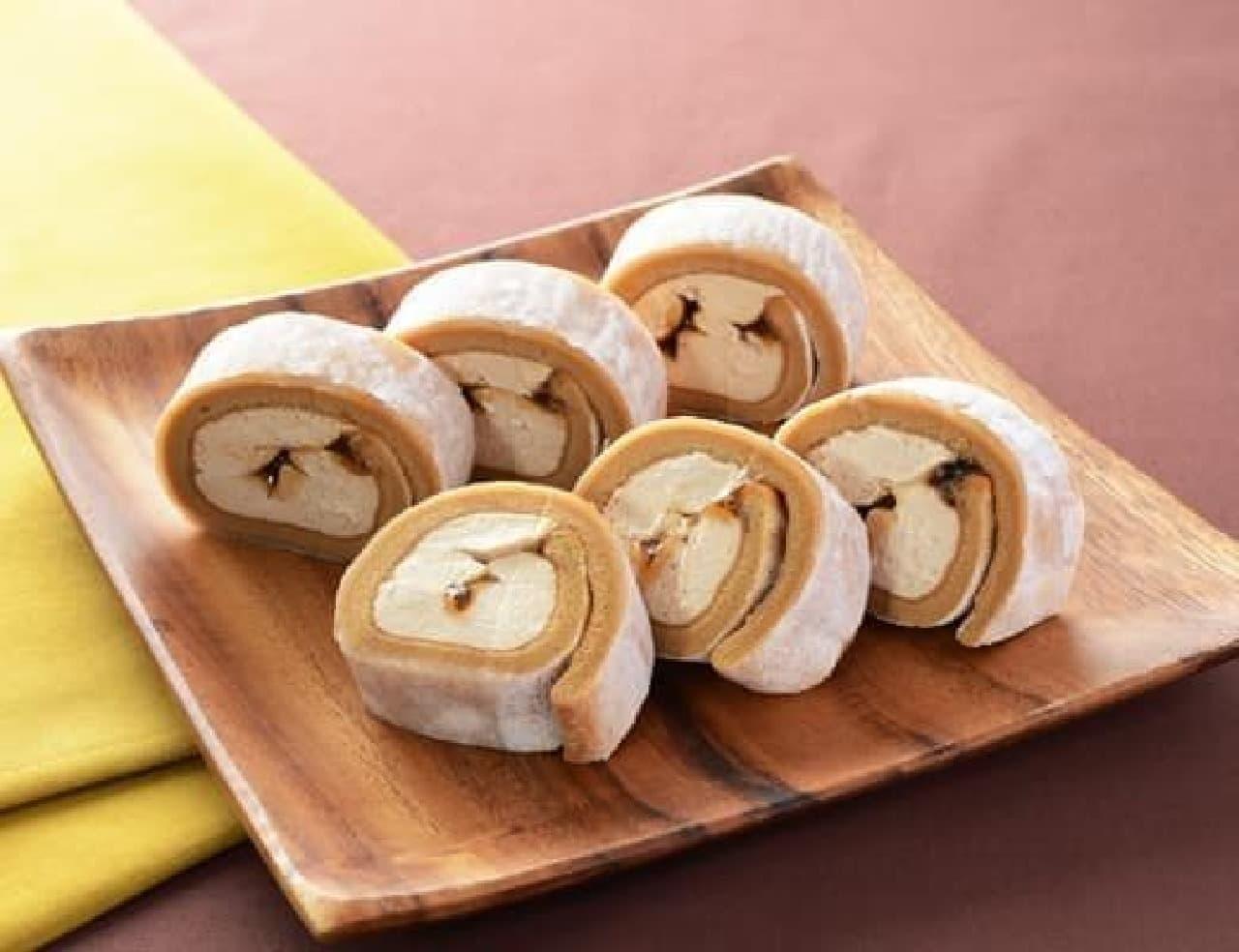 ローソン「お餅で巻いたもち食感ロール(きなこもち)」