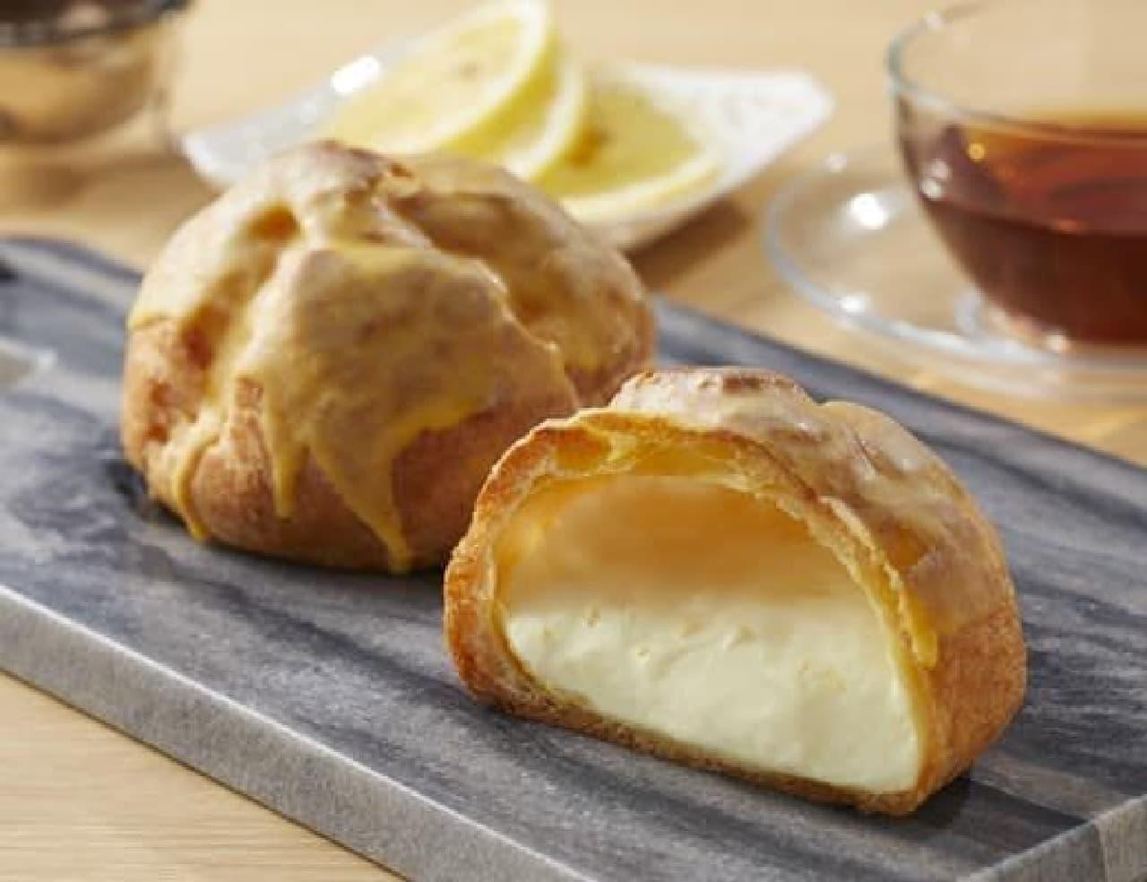 ローソン「チーズ&レモンのシュークリーム」
