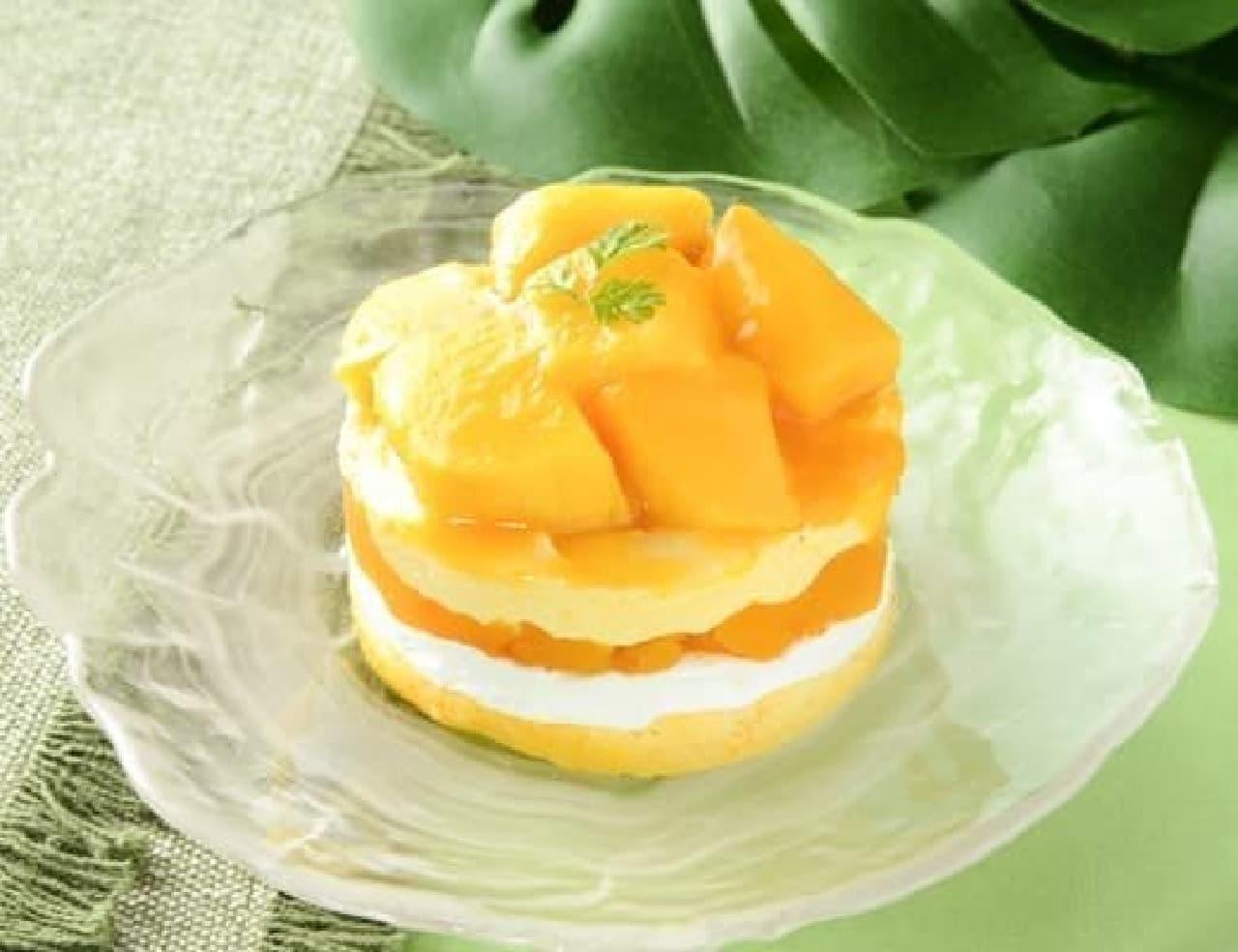 ローソン「マンゴーのショートケーキ」