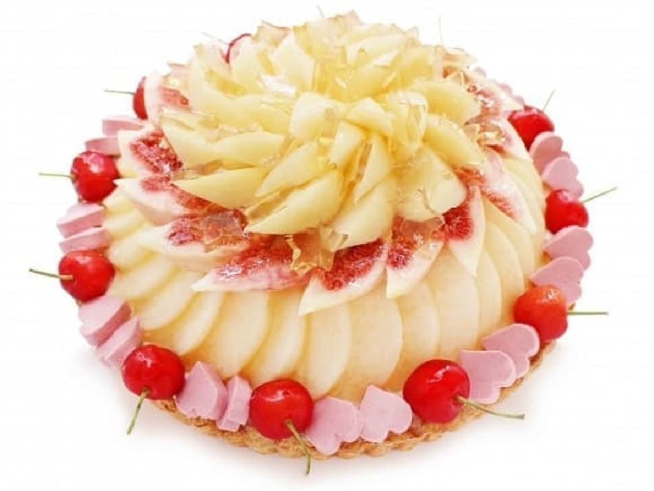 カフェコムサ「織姫~桃といちじくのケーキ~」