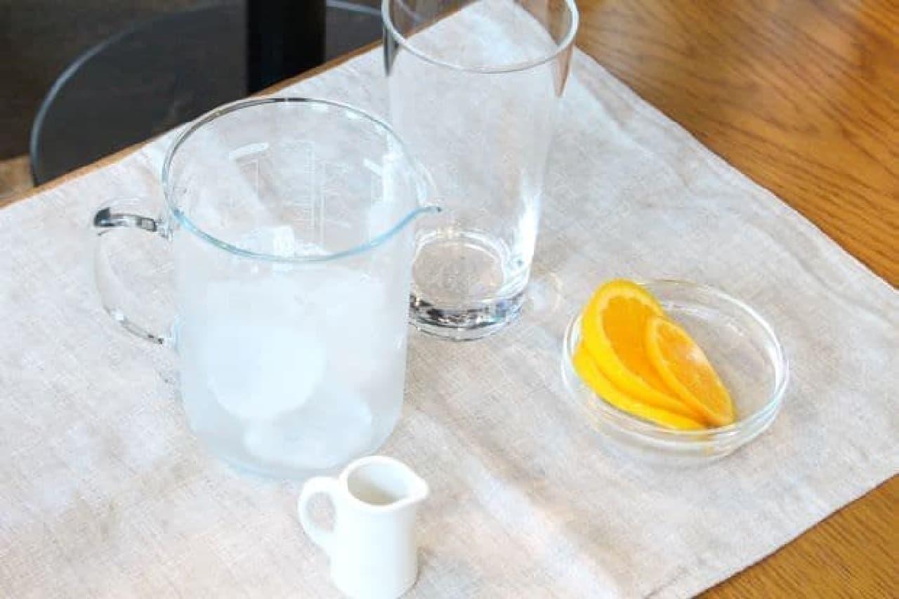 アレンジレシピ「アイスコーヒーwithオレンジ」の材料