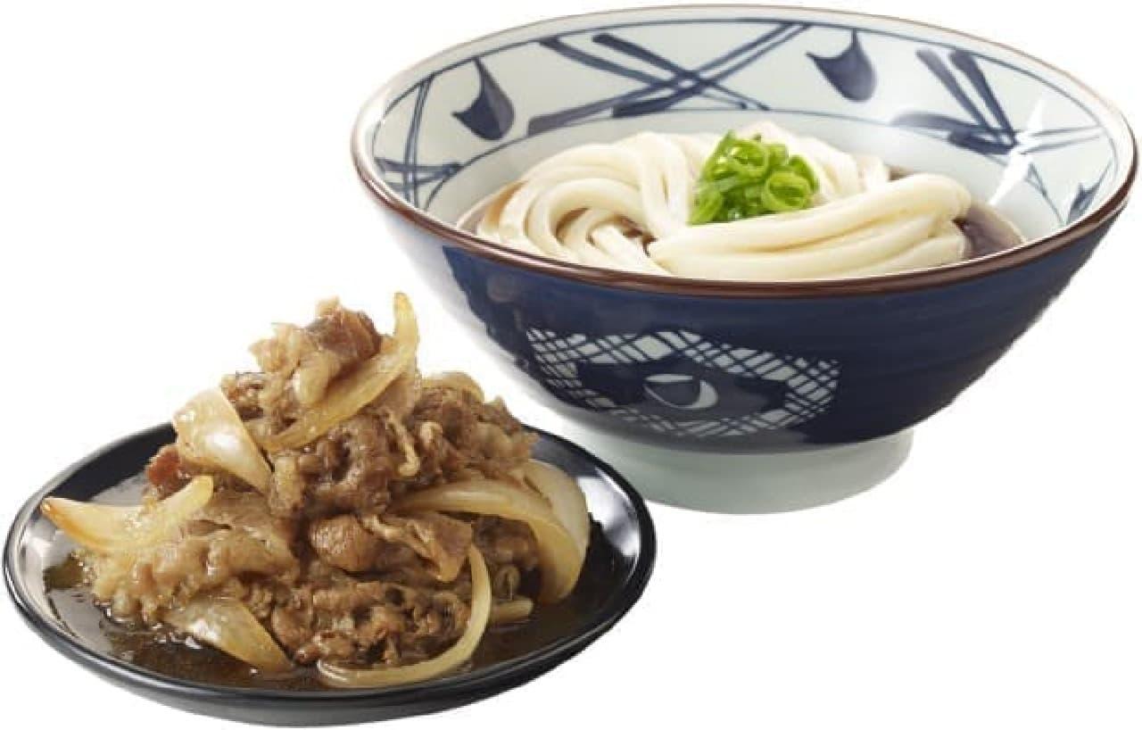 丸亀製麺「牛山盛りうどん」