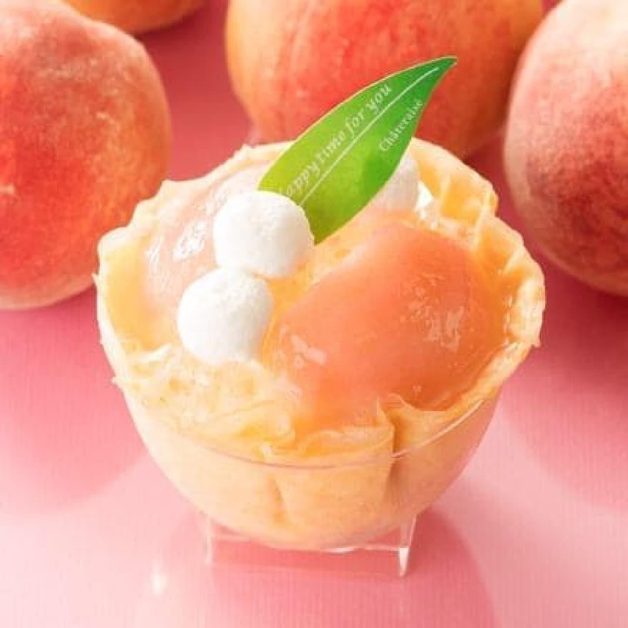 シャトレーゼ「山梨県産白桃使用 おひさまたっぷり桃のデザート」