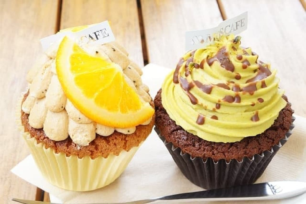 モスカフェ限定のカップケーキ