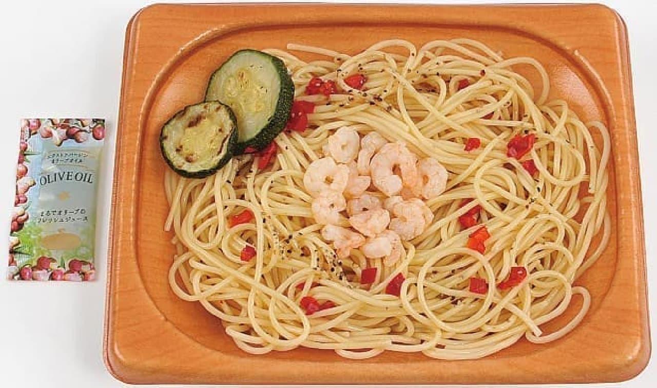 ミニストップの「ズッキーニと小海老のスパゲティ」