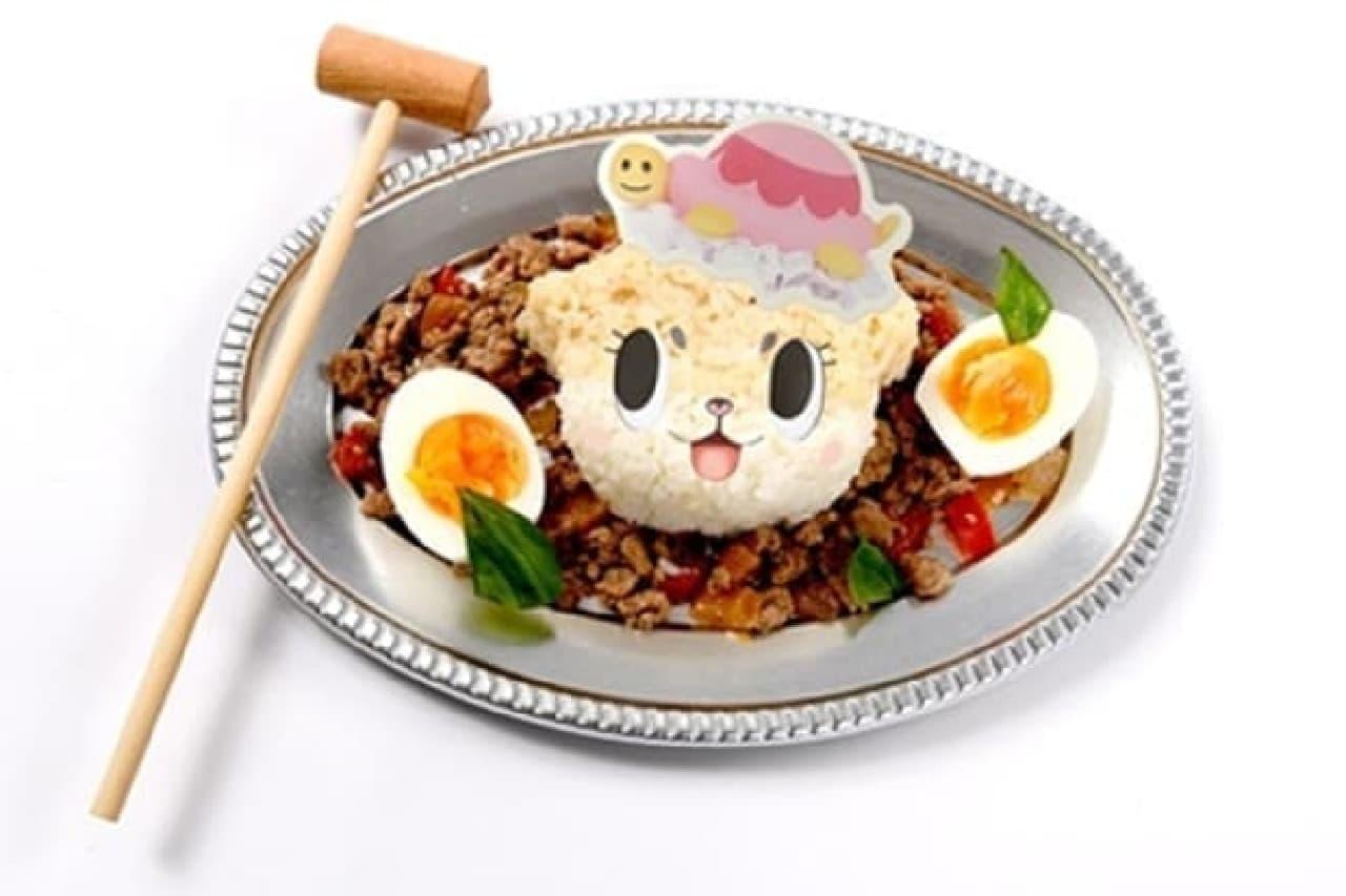ちぃたん☆カフェの「大好きなハンマーガパオ」