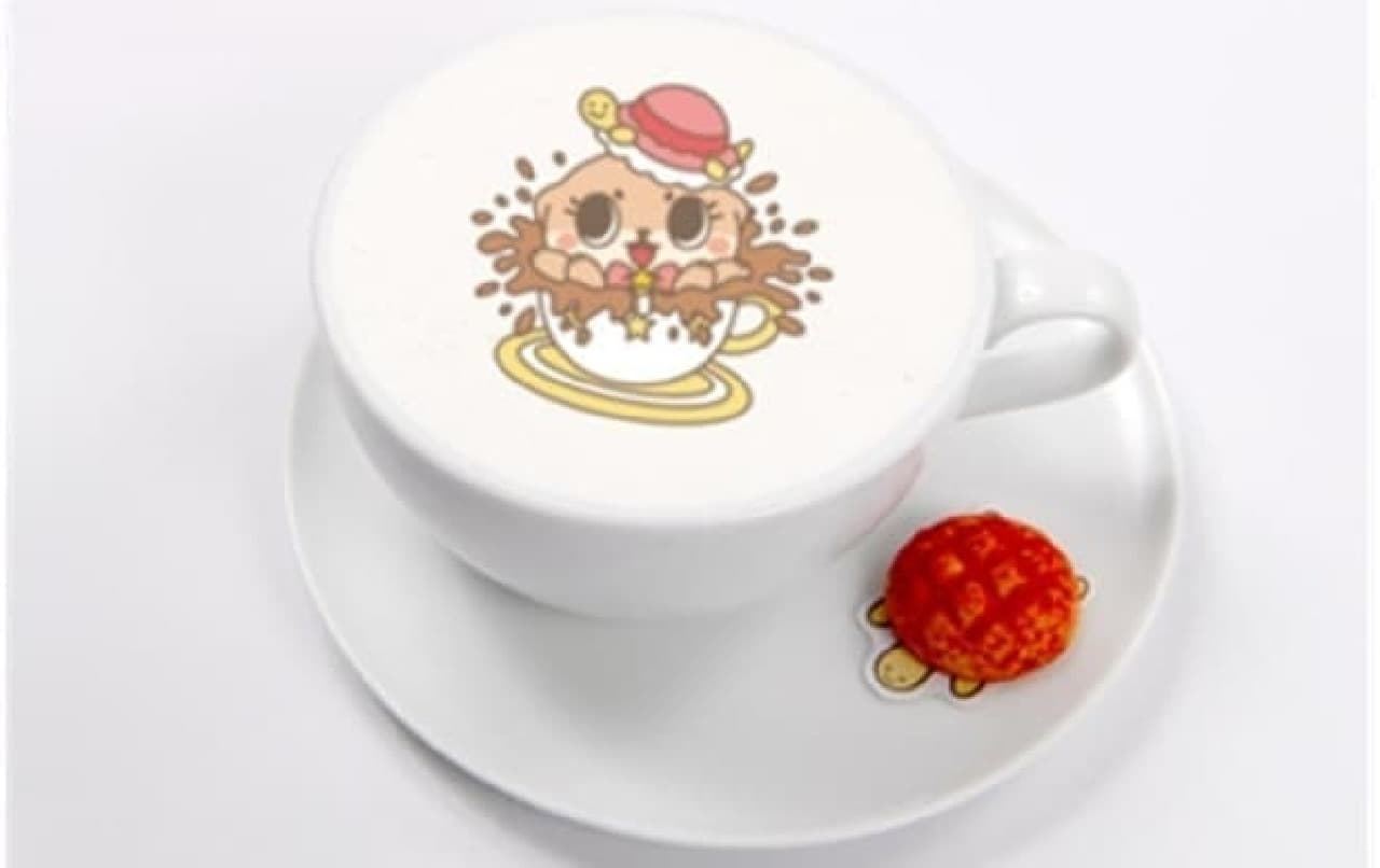 ちぃたん☆カフェの「かめちゃんカフェラテ」