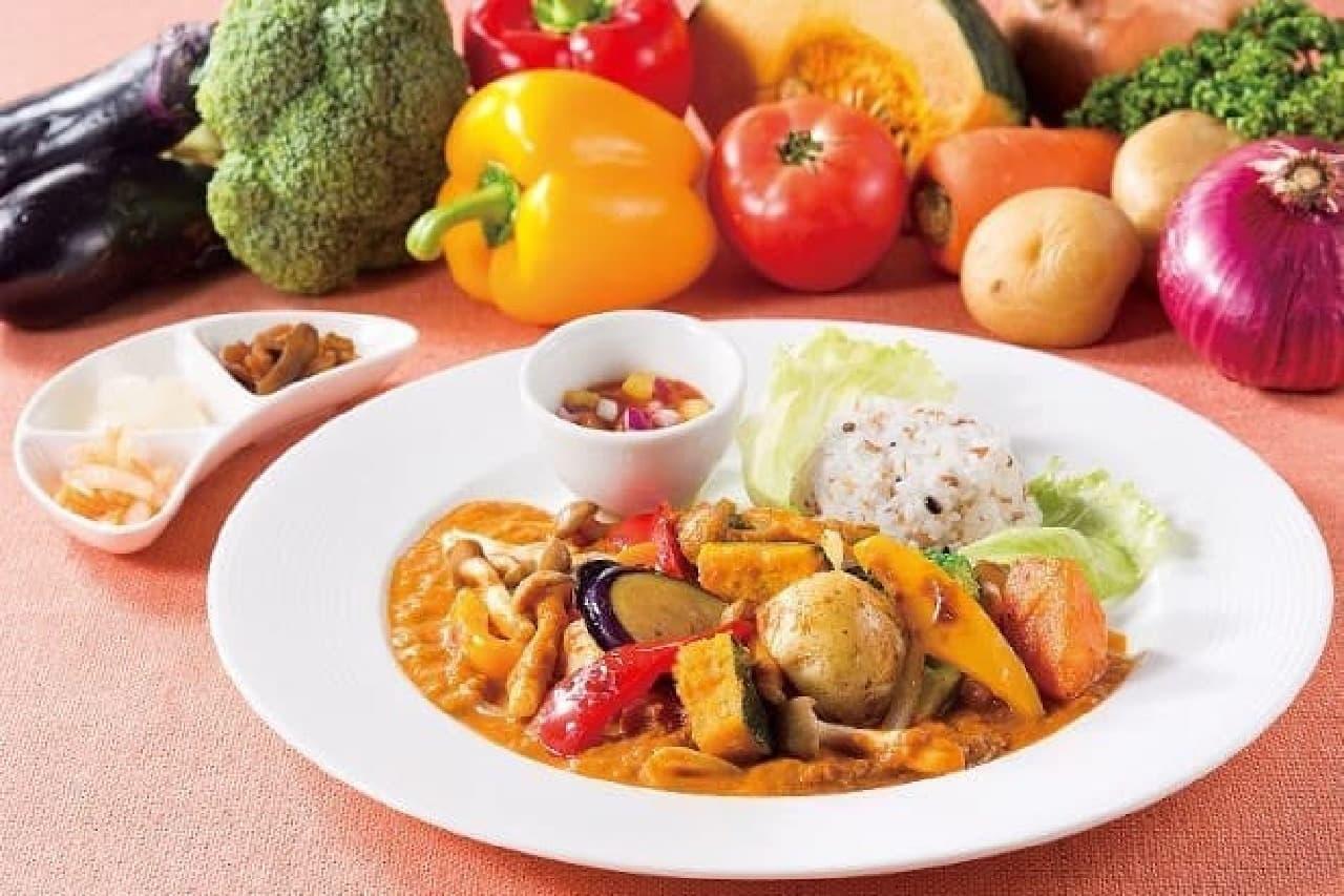 オリーブハウスの「1日分の野菜を食べるカリー」