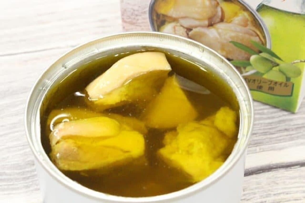 缶つま★レストラン マテ茶鶏のオリーブオイル漬け