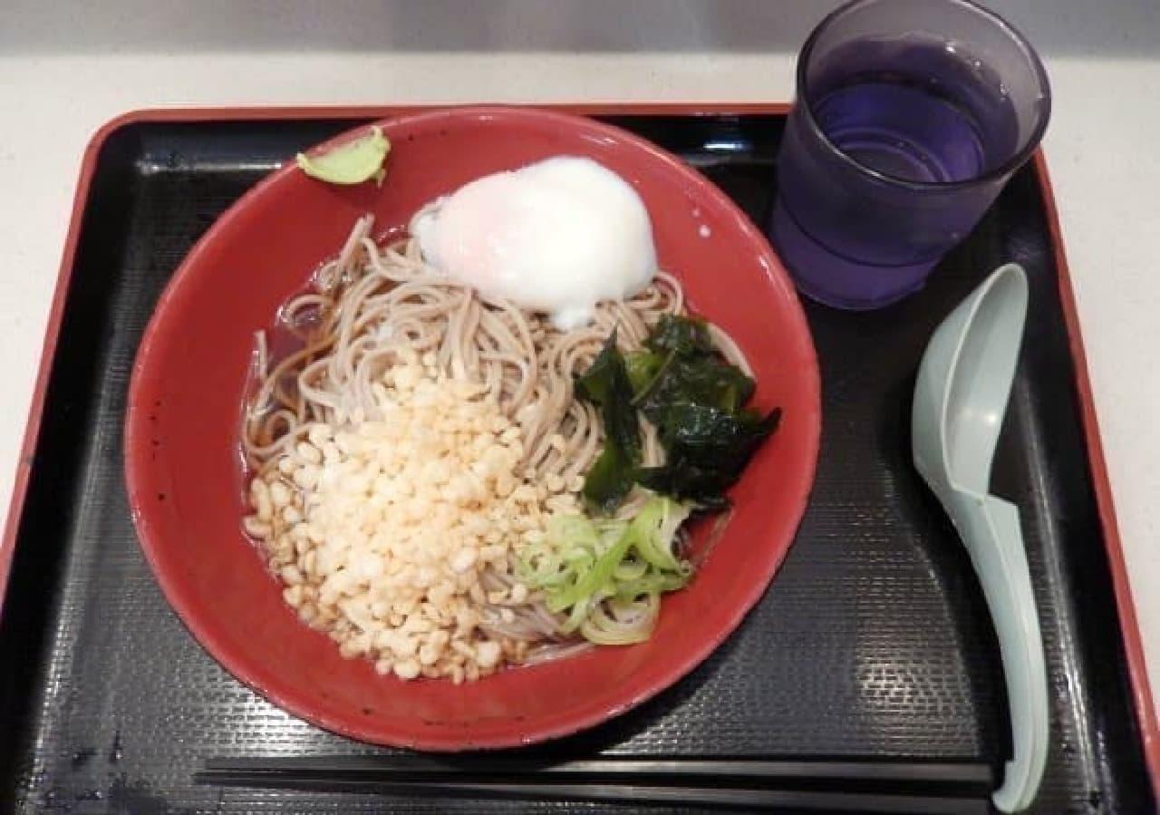 富士そばのモーニングサービス「朝そば」