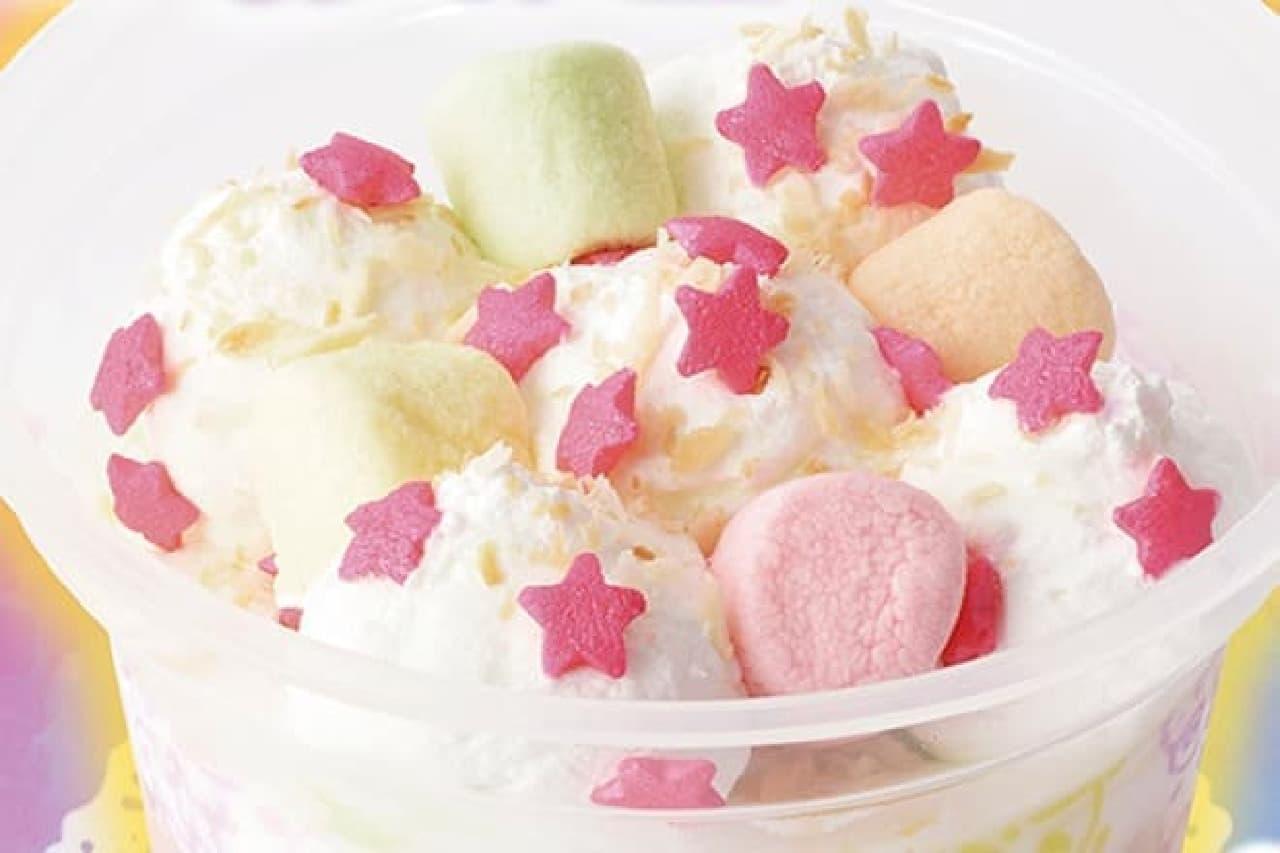 「ゆめカワイイ」がテーマのアイスケーキ