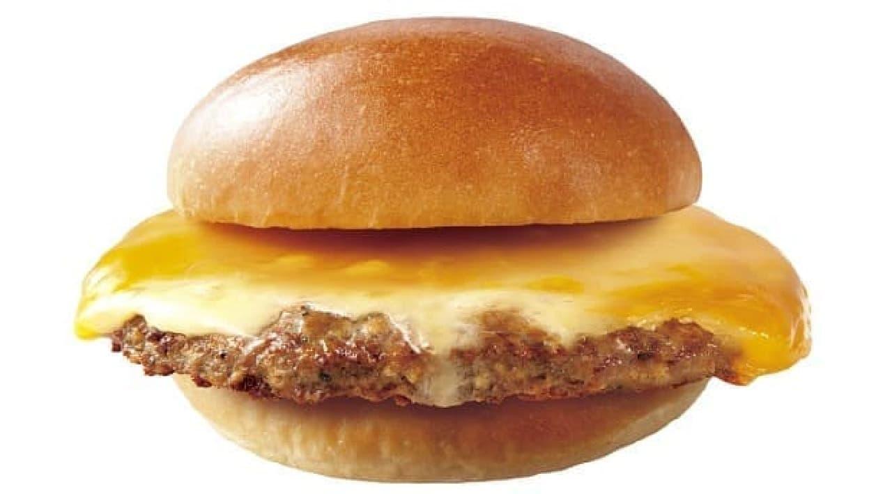 ロッテリア「肉ガッツリ絶品チーズバーガー」