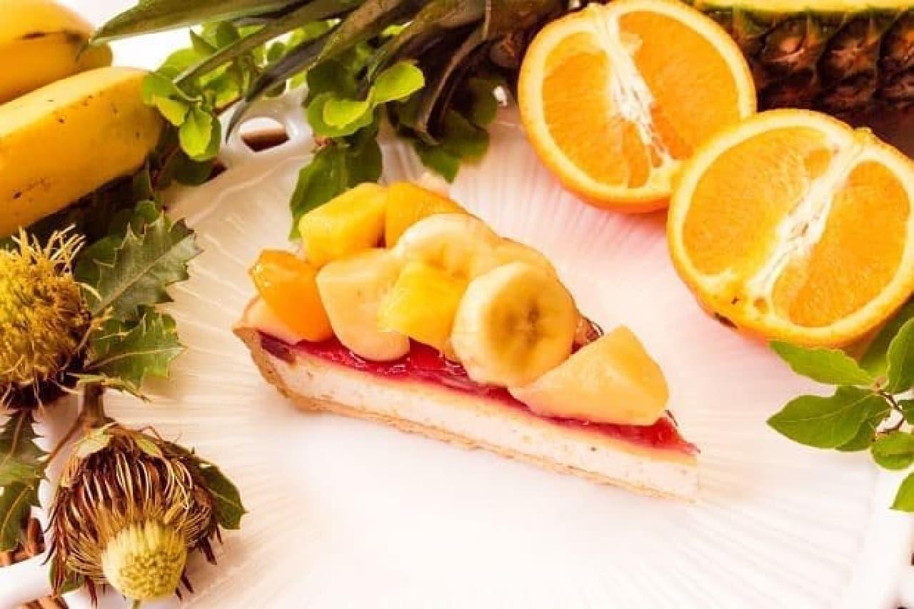 キル フェ ボンのグランフロント大阪店「夏の果実のミックスフルーツジュースのタルト」