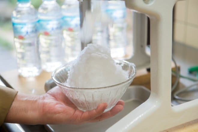 南アルプスの天然水かき氷