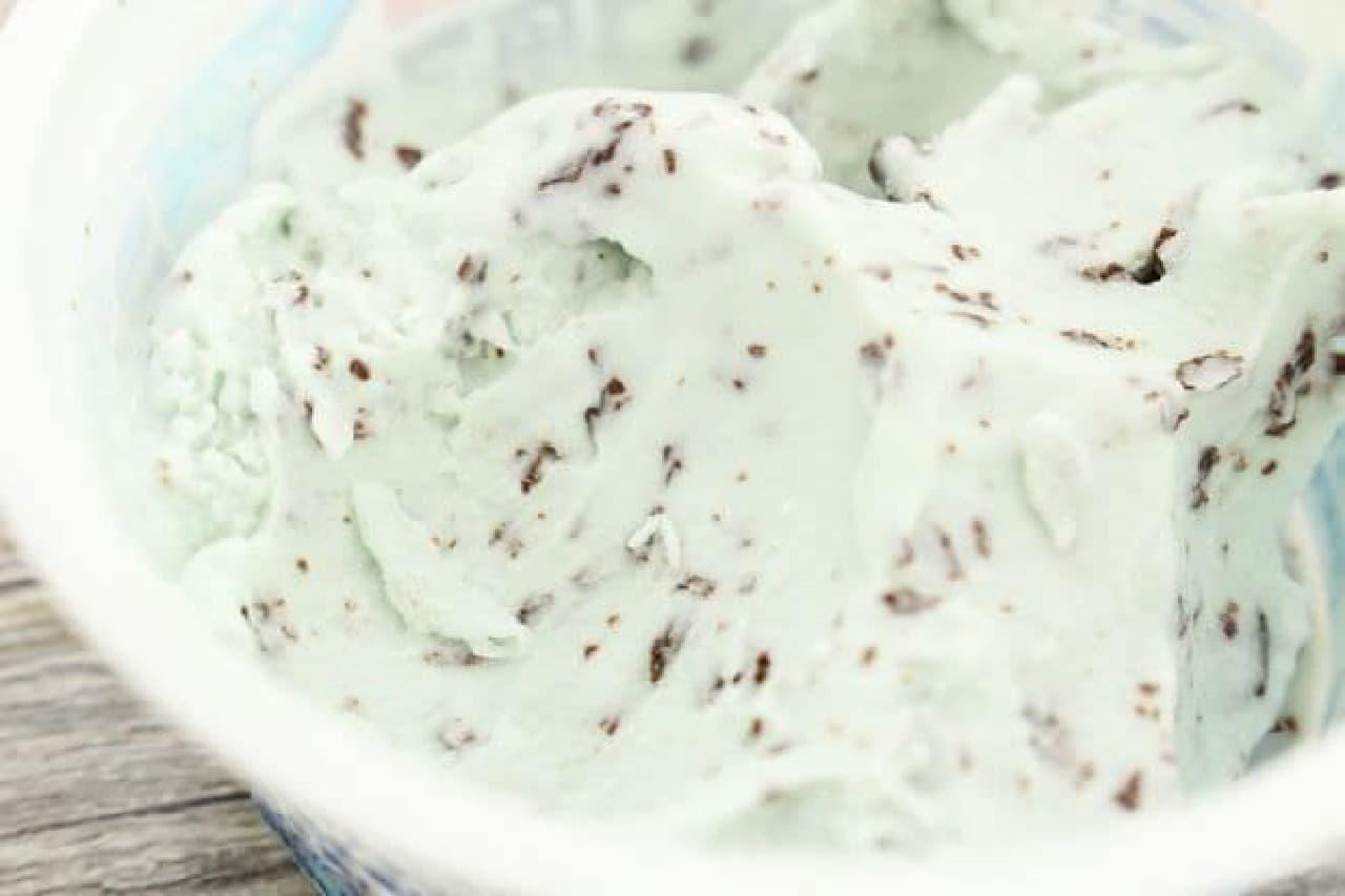 トルコ風アイス チョコチップミント