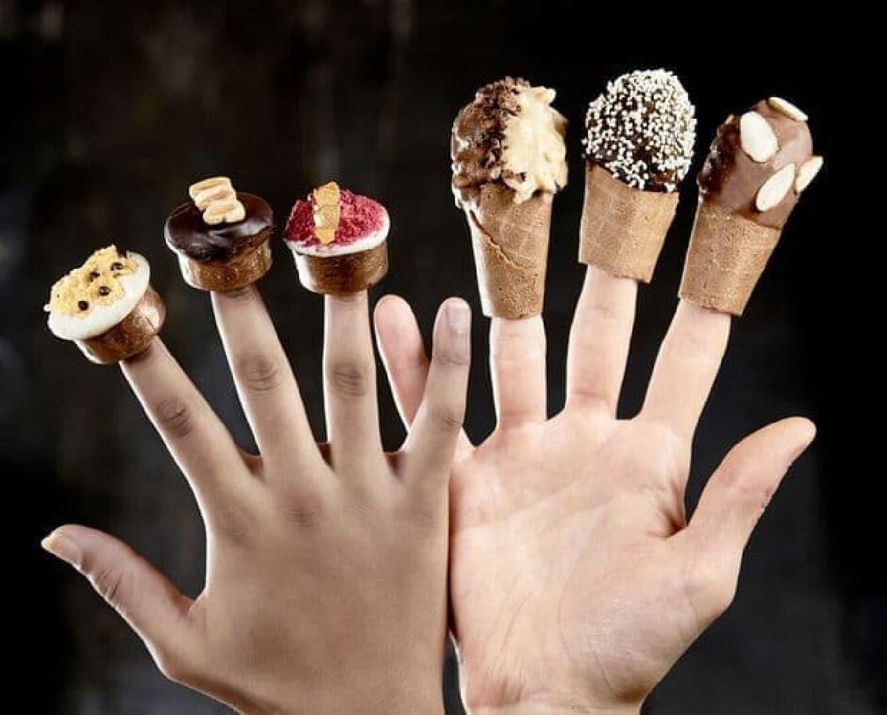 Giapoの新作「指にはめるアイスクリーム」