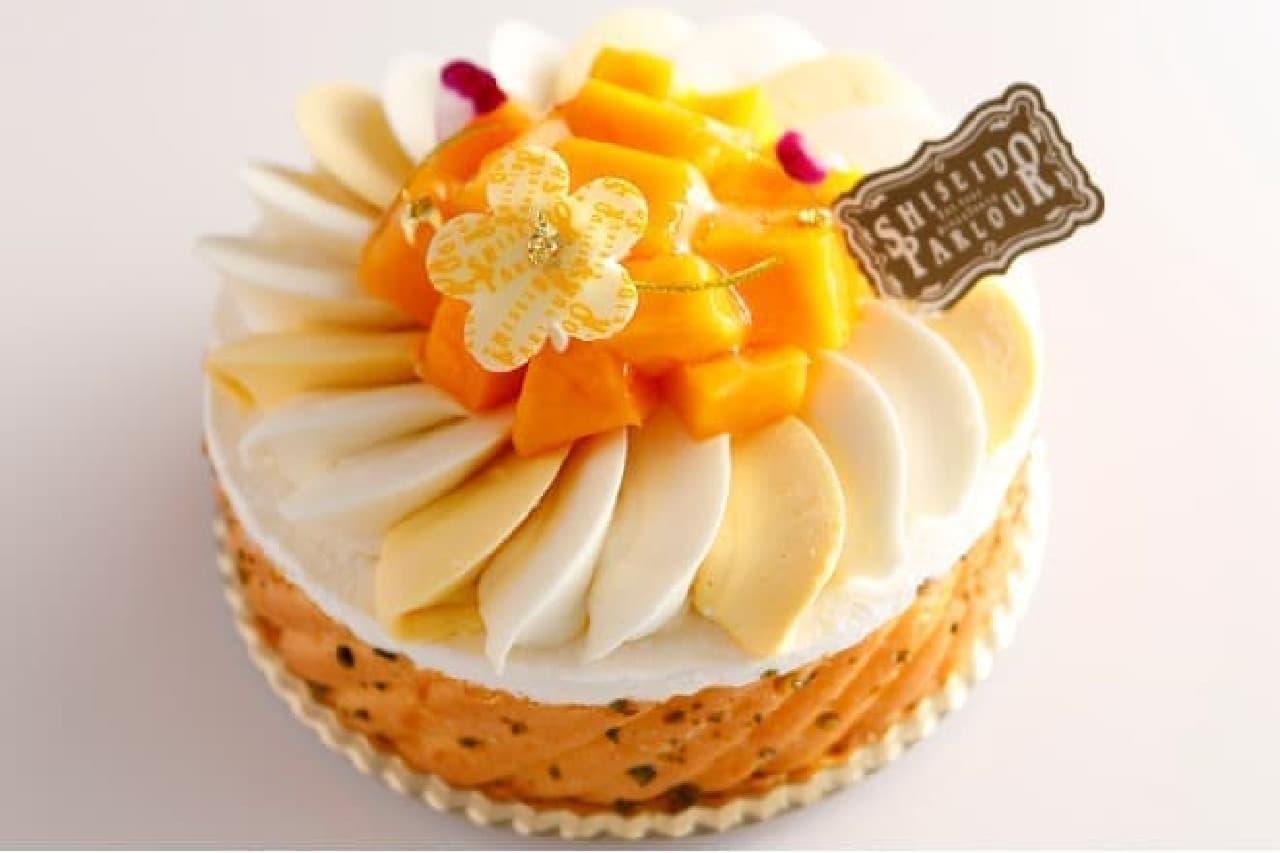 資生堂パーラー「沖縄県産マンゴーとチーズのシャルロット」