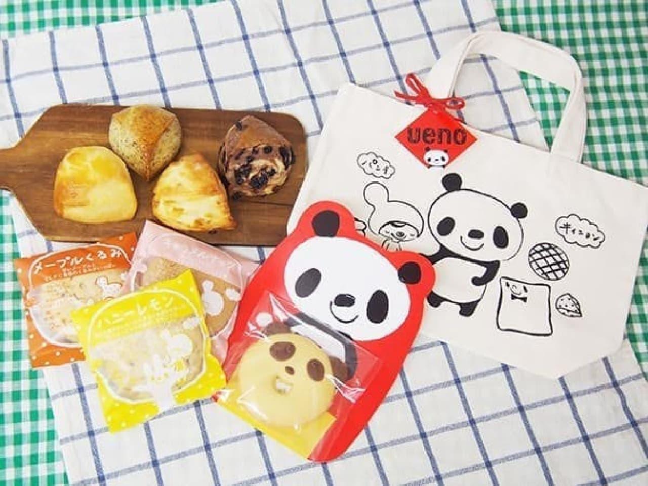 キィニョンエキュート上野店の「シャンシャンと一緒 スコーン・焼き菓子手みやげbag」