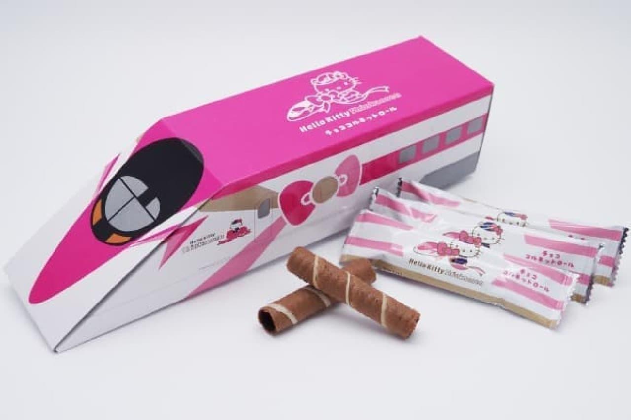 ハローキティ新幹線デザインのチョココルネットロール