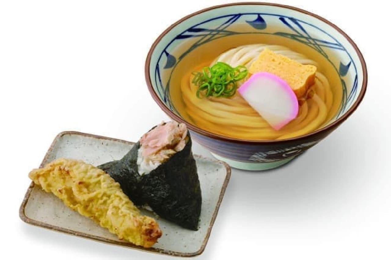 丸亀製麺の「まんぷくセット」