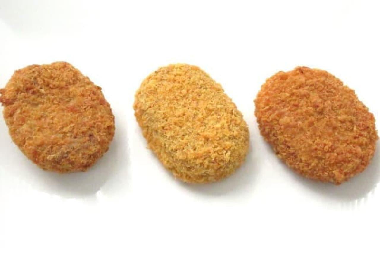 コンビニ3社のコロッケ食べ比べ